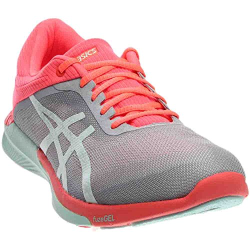 ASICS Women's Fuzex Rush Running Shoe, Mid Grey/Bay/Flash Coral, 10 M US