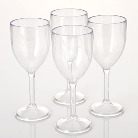 26ccfdd39da City Point 4 pcs 10 OZ Crystal clear Plastic Wine glass, Break-Resistant  Commercial Plastic Party Juice Glass, Picnic Drinking Glass