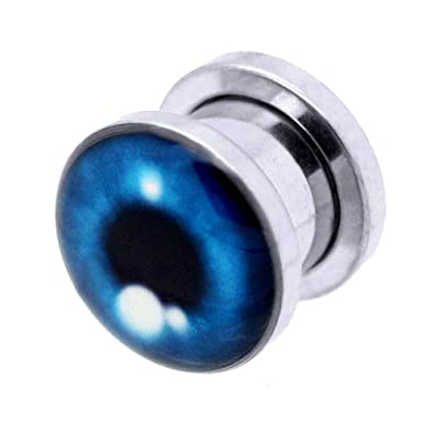 tumundo 1 Pieza o Kit Túnel Dilataciones Acero Inox Pendientes Piercing Expansor Stretcher Azul Ojo Halloween 3-10mm, modelo:10 mm Tunnel: Amazon.es: ...