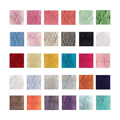 % Bamboo, 40% Tecel Blend Yarn - 4 Skein Assorted Color Surprise Package (Bamboo Baby Yarn)