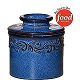 The Original Butter Bell Crock by L. Tremain, Antique Collection - Denim Blue