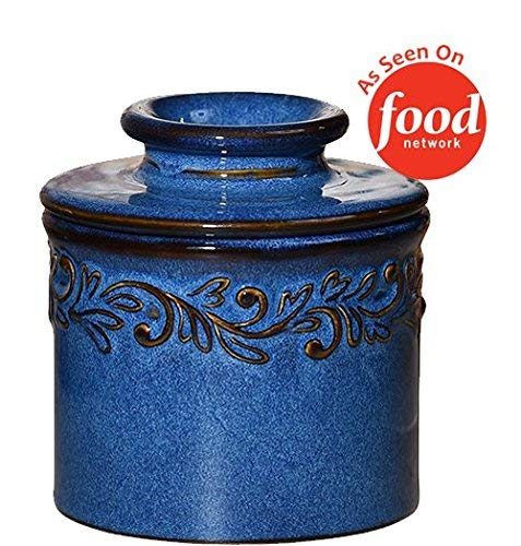 The Original Butter Bell Crock by L. Tremain, Antique Collection - Denim Blue