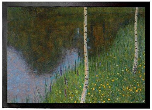 Gustav Klimt Door Mat Floor Mat - Lakeshore With Birches, 1901 (28 x 20 inches)