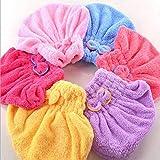 2019 Newest Hot Microfiber Bathing Coralline Dry Turban Hair Towel Hat Cap Shower Hat Bath Cap
