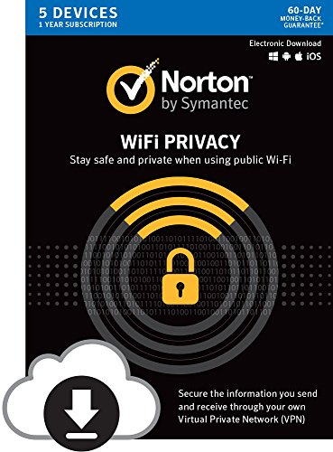 Norton WiFi Privacy - Secure VPN - Up to 5 Devices [Digital Download] (Best Browser For Os X 10.5 8)