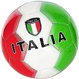 PALLONE DA CALCIO ITALIA CON BANDIERA ITALIANA TAGLIA 5 COLORE VERDE/BIANCO/ROSSO – IDEA REGALO