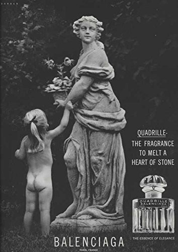 1965-ad-balenciaga-quadrille-scent-perfume-little-girl-child-gives-flower-to-statue-original-vintage