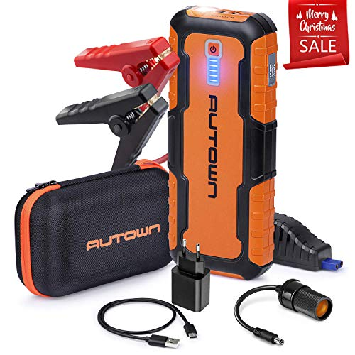 A Peak Portable Car Jump Starter (Up to 8.0L Gas, 6.5L Diesel Engine) - 12V Auto Battery Booster and Power Pack with LED Light, Power Bank Battery Charger & Jump Pack ()