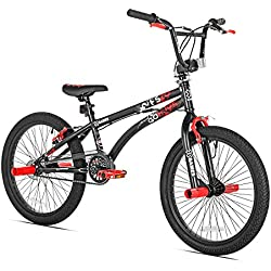 X Games FS-20 BMX/Freestyle Bicycle, 20-Inch, Black Red