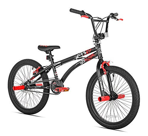 Image of the X Games FS-20 BMX/Freestyle Bicycle, 20-Inch, Black Red