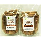 "Indus Organics Real Ceylon (Sri Lanka) Cinnamon 3"" Sticks, 16 Oz (2 Bag 8 Oz), Premium Grade, Hand Selected, Freshly Packed"