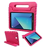 FunCase Galaxy Tab S3 9.7 Case EVA Kids Friendly Shockproof Convertible Handle Stand Super Light Weight Protective Case for Samsung Galaxy Tab S3 9.7 Inch 2017 Tablet (SM-T820/T825), Rose