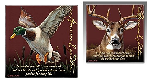 (American Expedition Signature Series 8 Pc. Coaster Set - Mallard & Deer)
