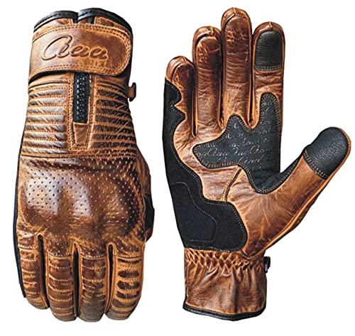 aaaSports Motorradhandschuhe Männer Frauen Rind Vintage Leder atmungsaktiv Touchscreen Fahrradhandschuhe, Anti-Rutsch…