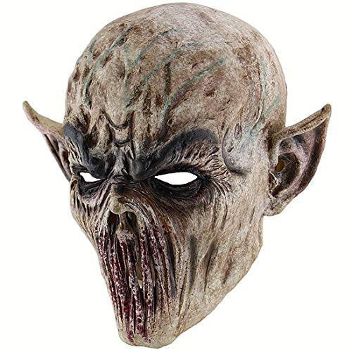 Xiao Chou Ri Ji Cosplay Scary Halloween Costume Party Props Bloody Zombie Fork Monster Mask -