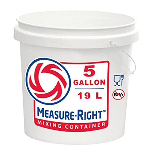 United Solutions 5-Gallon Residential Paint Bucket Graduate Pail Measure-Right Mixing Container for Paints Pastes Adhesives or Food Products by United Solutions