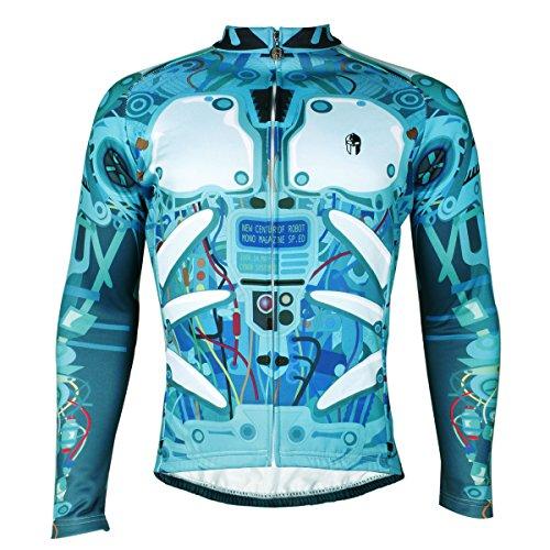 ヘクタール不道徳間違えた[Ilpaladino]サイクルジャージ 長袖 冬用 メンズ 裏起毛 防風防寒 吸汗 通気 伸縮性いい アウトドア 自転車用 サイクリングウェア