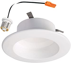 Halo RL4099BLE40AWH White RL 4 in. 2700K-5000K Tunable Smart Integrated LED Recessed Ceiling Light Trim Selectable Lumens, 4 Inch