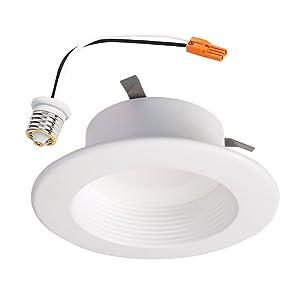 "HALO Recessed RL460WHZHA69 Zigbee Smart LED Downlight, 4"", White"
