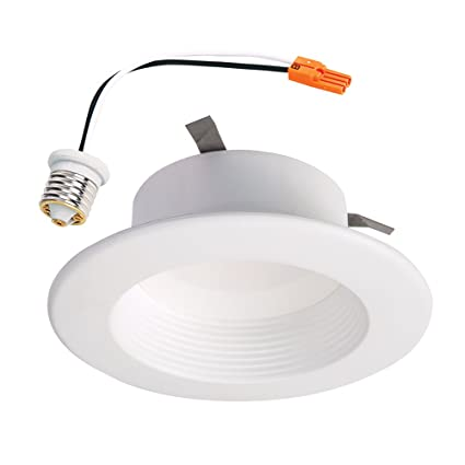 Halo RL460WHZHA69 Zigbee Smart LED Downlight, 4u0026quot;, White, Works With  Alexa
