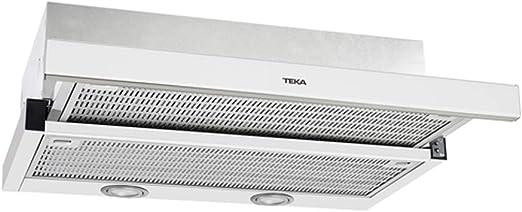 Teka Cocina Extensible | Modelo: CNL 6400 | Campana con 2 Motores | 3 velocidades de extracción | Ancho de 60 cm | Color Blanco, Acero Inoxidable: Amazon.es: Grandes electrodomésticos