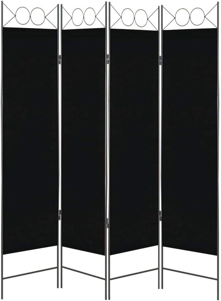 vidaXL - Separador de Espacios (4 Compartimentos) Biombo Plegable para Pared de Dormitorio (160 x 180 cm), Color Negro: Amazon.es: Juguetes y juegos