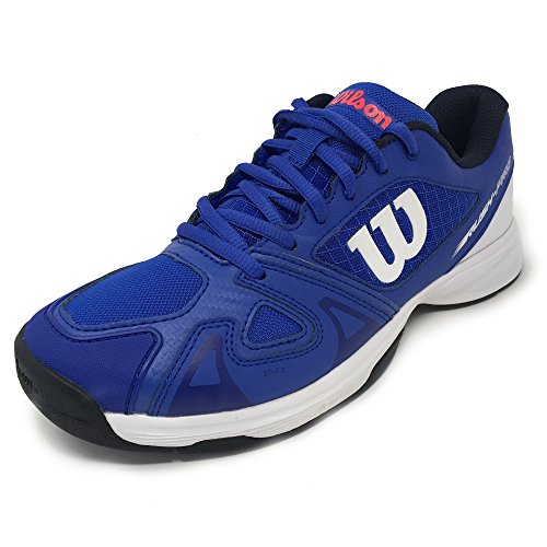 Shoes Red Blue Wilson Tennis 000 Unisex Jr Pro 2 Adults' Neon Rush Blue 5 Dazzling White gqWHPwq68x