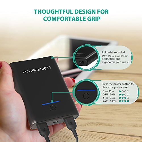 Portable Charger RAVPower 10000mAh Power Bank, ...