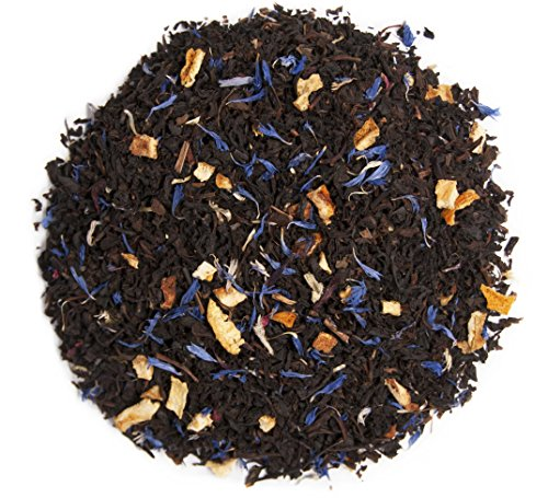 Zest Tea Energy Blends: Blue Lady Black Flavor (Citrus & Hibiscus), As Much Caffeine As Coffee, (4 oz Loose Leaf) (50 Servings)