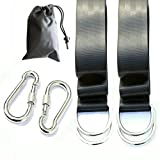 AniiKiss Tree Swing Hanging Kit Straps Hanger Belts for Swings Hammock Accessories Tree Beams Holds 2000lbs, Easy & Safety Swing Hanger Installation with 2 Heavy Duty Carabiner Hooks