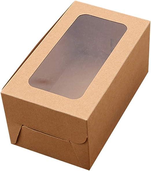 Hvoz Cajas para Cupcakes, 10 Unidades 2/4/6 Agujeros de Papel ...