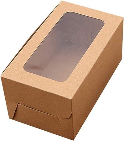 FZAY - Caja para tartas (10 unidades, papel kraft, con insertos, 2/4/6 agujeros, para magdalenas, soporte para magdalenas, 10 unidades): Amazon.es: Hogar
