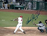 Signed Howie Kendrick Photograph - 8X10 Home at Bat Vs Mets COA - Autographed MLB Photos