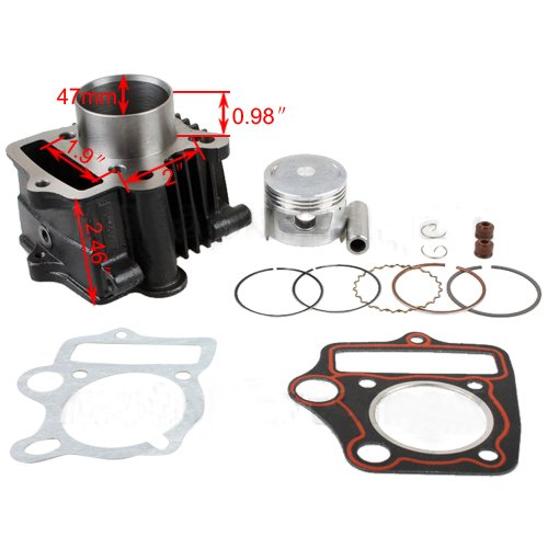 X-PRO 47mm Cylinder Piston Pin Ring Gasket Set Kit for 70cc ATVs and Dirt Bikes