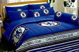 Chelsea FC Football Club Official Licensed Bedding Set, Bed Sheet, Pillow Case, Bolster Case, Comforter CS001 Set A+1 (Twin 42''x78'')