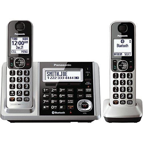 Panasonic KX-TGF372S DECT 2-Handset Landline Telephone (Certified Refurbished)