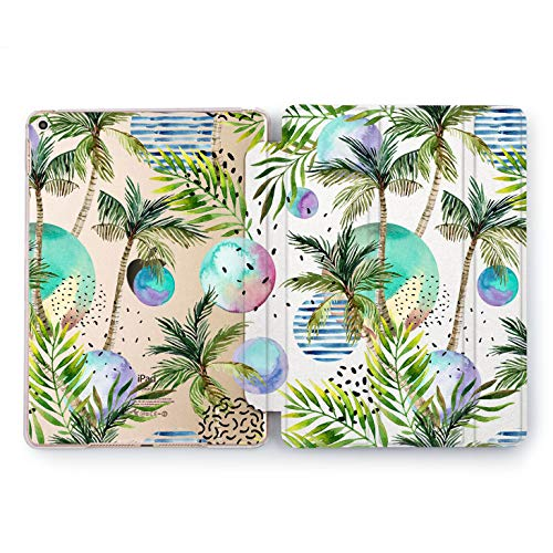 Wonder Wild Palm Trees Design Case for Apple iPad Pro 9.7 11 inch Mini 1 2 3 4 Air 2 10.5 12.9 2018 2017 5th 6th Gen Clear Smart Hard Cover Multicolored Tropical Exotic Beach Vacation Planets Sky