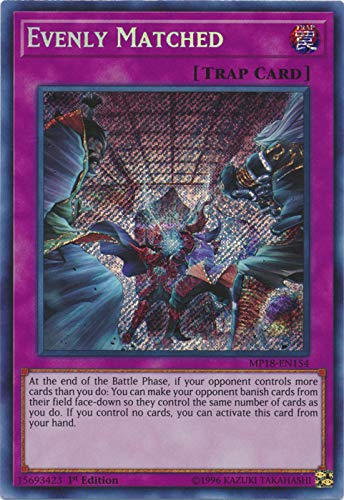 - Yu-Gi-Oh! - Evenly Matched (MP18-EN154) - 2018 Mega-Tin Mega Pack - 1st Edition - Secret Rare