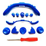 Custom Mod Kit for Xbox 360 Controller Thumbsticks, Dpad, RB LB, ABXY, Trim, Triggers, Guide, T8 Security Driver Blue
