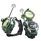 Mokiki Walkie Talkie Watches for Kids, Two-Way Long Range Radio Transceiver, Digital Wrist Walky Talky Wrist Watch Outdoor Interphone with Flashlight, Cool Interactive Toy Christmas, 2 Packs