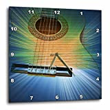 Cheap 3dRose dpp_29262_2 Blue and Green Cosmic Guitar Music-Wall Clock, 13 by 13-Inch