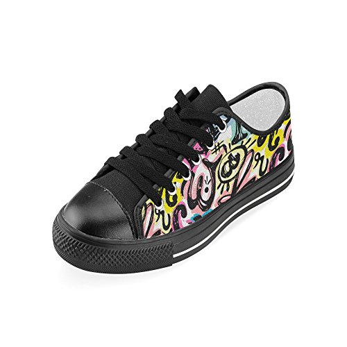 Shoes Canvas On floral Slip Artistic InterestPrint mandala Modern Classic and Alphabet for Women Calligraphy wq0IUnYxgn