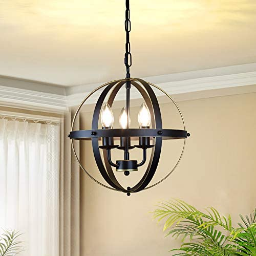 DLLT Chandelier Farmhouse Hanging Lighting