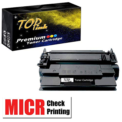 TopInk CF287A MICR Toner Cartridge Replacement for HP Laserjet Pro 87A CF287A Printer-1 Pack