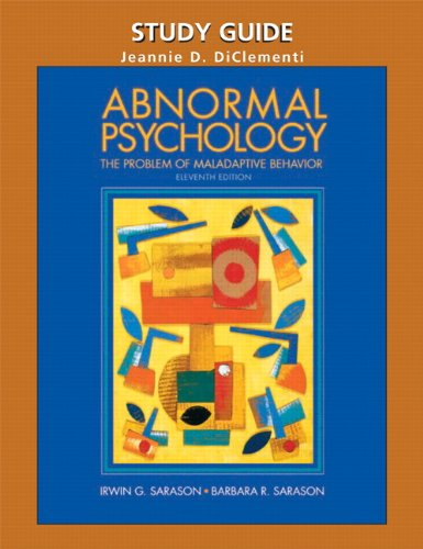 Abnormal Psychology: the problems of maladaptive behavior eleventh edition