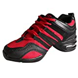 Free Fisher Jazz Dance Shoes Sneakers Black&Red 40