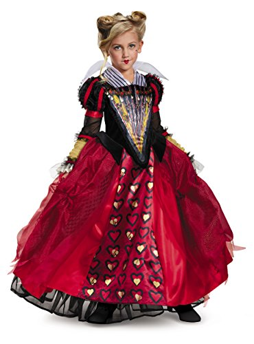 Alice Movie Costumes (Queen Deluxe Alice Through The Looking Glass Movie Disney Costume, Red, Small/4-6X)