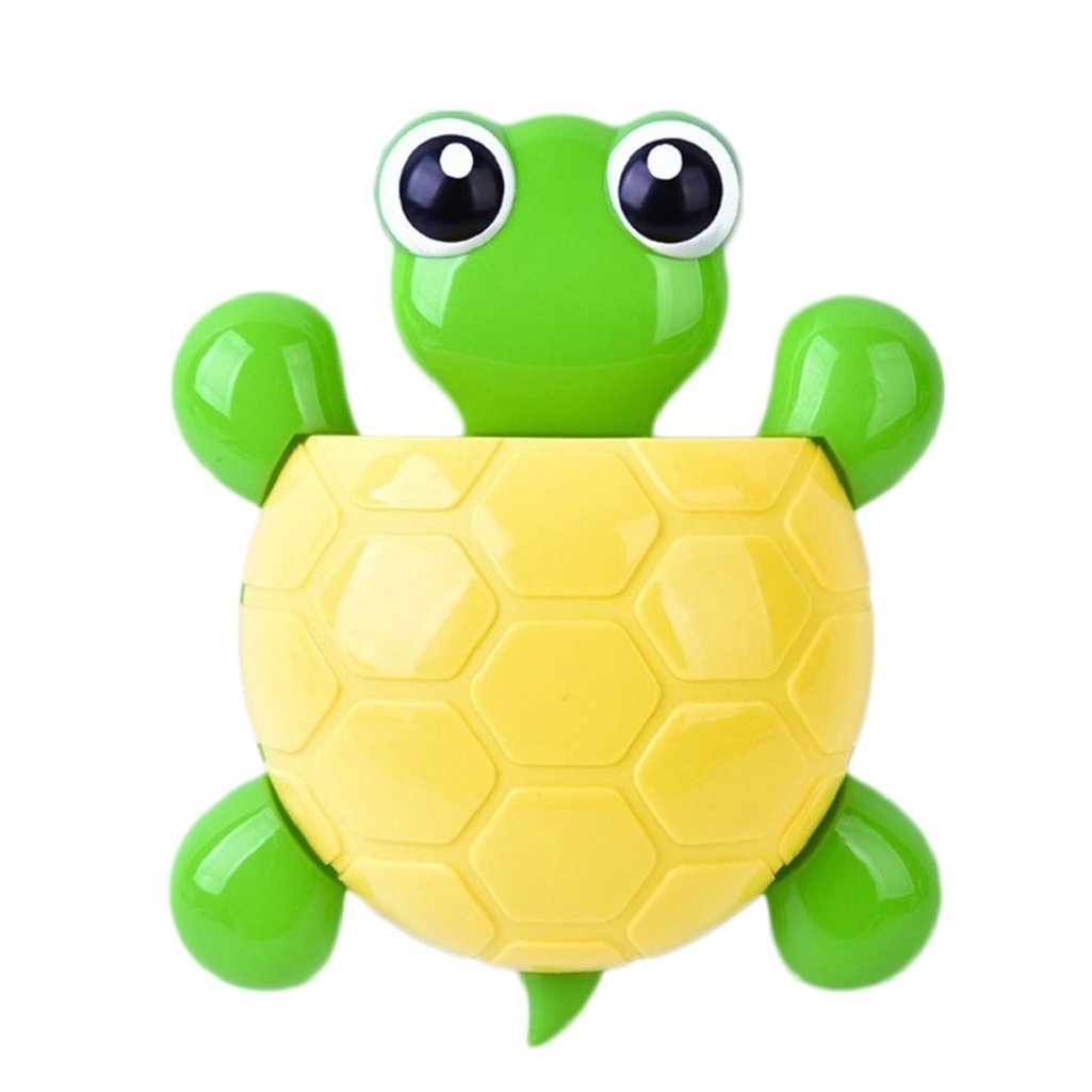 Quietcloud Cute Cartoon Tortoise Shaped Suction Cup Bathroom Turtle Toothpaste Holder
