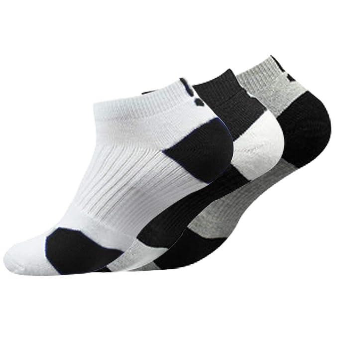 Litthing Calcetines Deportivos Antideslizantes de Algodón para Hombre Desodorante Respirables para Baloncesto Fútbol Yoga de Balonmano Correr ...