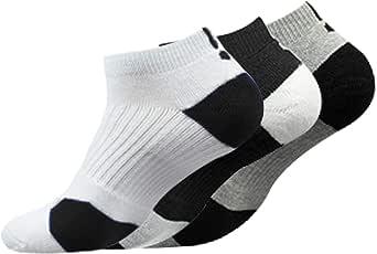 Litthing Calcetines Deportivos Antideslizantes de Algodón para Hombre Desodorante Respirables para Baloncesto Fútbol Yoga de Balonmano Correr engrosamiento de Ciclismo (Corto, 3): Amazon.es: Ropa y accesorios